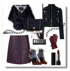 """""""Winter Smoke"""" by xfrodo ❤ liked on Polyvore featuring Sonia Rykiel, Givenchy, Unreal Fur, Chanel, Christian Dior, Kat Von D and Mark & Graham"""