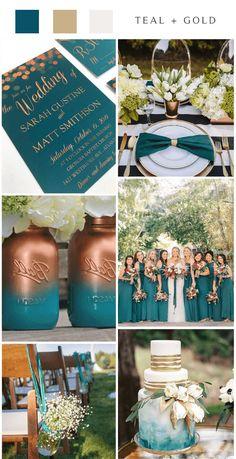 Top 8 Dark Teal Fall Wedding Color Ideas for 2020 Teal Fall Wedding, Gold Wedding Colors, Wedding Color Schemes, Our Wedding, Dream Wedding, Teal Rustic Wedding, Wedding Blog, Wedding Stuff, Wedding Flowers