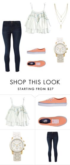 """""""Untitled #48"""" by melissavieraa ❤ liked on Polyvore featuring Vans, Michael Kors, Frame Denim, Cole Haan, women's clothing, women's fashion, women, female, woman and misses"""