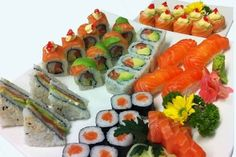 Sushi with Sashimi Combo :  Description: 20 pcs combo sushi consisting of Sashimi 3 Salmon, 3 Tuna & 2 Roses Nigiri 3 Salmon, 3 Tuna & 2 Prawn California Rolls 4 Salmon, 4 Tuna, 4 Spicy Tuna  Contact Long Fen Chinese Restaurant : 044-690 5570
