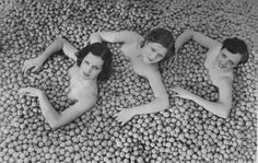 ∴ Trios ∴ the three graces, sisters, triplets & groups of 3 in art and vintage photos - Three Young ladies in walnuts, 1932 by Leslie Jones