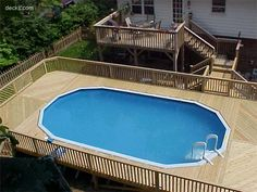 Separate deck from pool Outdoor Fun, Outdoor Spaces, Outdoor Living, Outdoor Decor, Outdoor Ideas, Above Ground Pool, In Ground Pools, Deck Pictures, Pool Decks