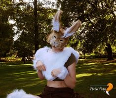 Brown Bunny Rabbit Bob Tail Clip On Tail One Size Luxury Fake Fur Tail Unisex
