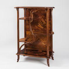 French Art Nouveau Etagere by Emile Gallé Cabinets and Vitrines Furniture Antique Decorative Arts Tiffany Lamps Art Nouveau