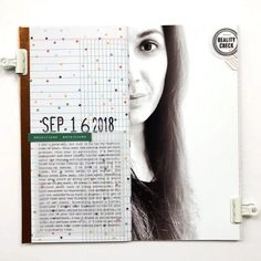 Blog: Product Spotlight | Reality Check Stamp Set - Studio Calico Travel Journal Scrapbook, Life Page, Write It Down, Studio Calico, Reality Check, Journal Prompts, Travelers Notebook, Project Life, Creative Inspiration