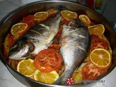 Ψάρι πλακί του Β. Καλλίδη #sintagespareas #psariplaki Greek Recipes, Fish Recipes, No Cook Desserts, Dessert Recipes, Greek Cooking, Cooking Recipes, Healthy Recipes, Fish Dishes, Fish And Seafood
