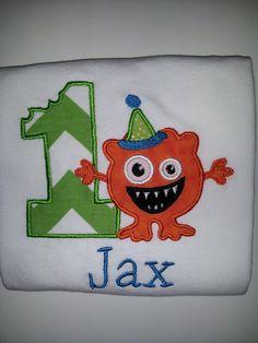 Personalized Monster Mash birthday shirt. Boy, 1st Birthday Monster Mash onesie or T-shirt.. $25.00, via Etsy.