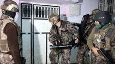 Police break down door in Adiyaman, south-eastern Turkey