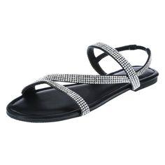 BRASH-WOMENS-MARGARITA-STRAPPY-FLAT-PAYLESS Strappy Flats, Flat Sandals, Buy Shoes, Margarita, Warm Weather, Black, Dress, Style, Design