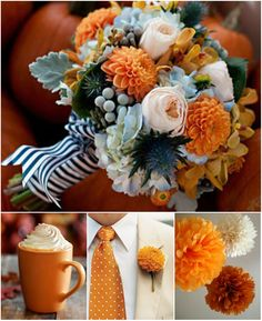Absolutely obsessed with this bouquet and boutonnière. And delicious coffee drinks? An autumn must-have