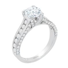 #Malakan #Jewelry - White Gold Diamond Engagement Ring 18762 #Bridal #Weddings #EngagementRings #Diamonds