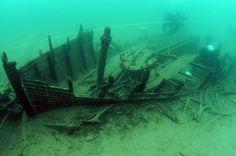 Big Bay Sloop Shipwreck Madeline Island WI