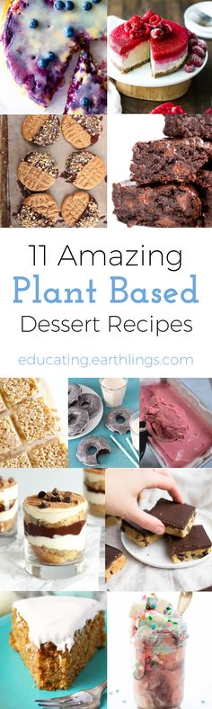 Here are 11 amazing plant based desserts, yes they are all vegan! With warmer weather, comes more 'get-togethers' which calls for some yummy. Brownie Desserts, Oreo Dessert, Mini Desserts, Coconut Dessert, Low Carb Dessert, Healthy Dessert Recipes, Health Desserts, Whole Food Recipes, Delicious Desserts