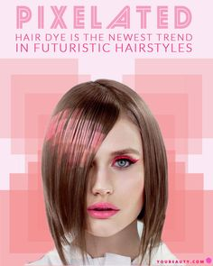 Pixelated Hair Dye is the Newest Trend in Futuristic Hairstyles - Would you try this digitized-looking hair trend?