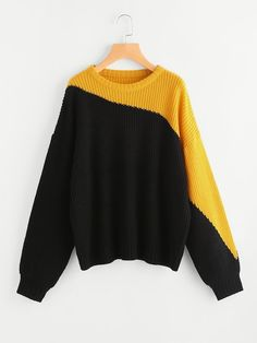 Cute Sweaters, Pullover Sweaters, Color Blocking Outfits, Knit Fashion, Casual, Winter Outfits, Knitwear, Ideias Fashion, Winter Fashion