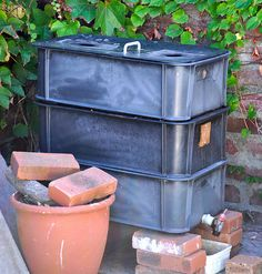 Got worms how to build a composting worm farm out of 5 for Fishing worm farm