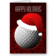 for a golfer Christmas Cards Holiday Greeting Cards, Vintage Christmas Cards, Golf Holidays, Happy Holidays, Golf Ball, Diy And Crafts, Birthday, Gifts, Golf Accessories