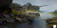 ArtStation - Beach cannon, Alexander Forssberg