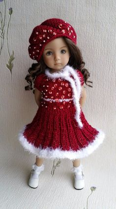 """Outfit for doll 13"""" Dianna Effner Little Darling. Hand made."""