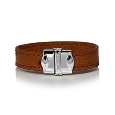 D'Monti Gold Brown - France Luxe Genuine Ostrich Leather Single Bracelet