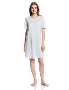 a48a6a927a Hanro Women s Cotton Deluxe Short Sleeve Bigshirt