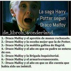 La saga de Harry Potter según Draco! !! Es genial lo amoooo