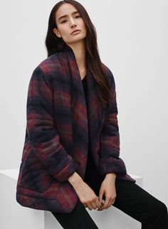 WILFRED FREE WALESKA COAT - <p>A soft duvet coat to cozy up with</p>