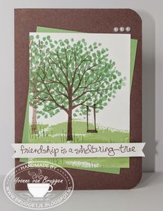 Yvonne is Stampin' & Scrapping: Stampin' Up! Sheltering Tree card