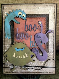 Tim Holtz has done it again! He created the cutest little silly monster dies for his Sizzix Alterations line of die cuts. The Silly Monster...