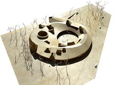 LETH & GORI is a danish architecture office based in Copenhagen Architecture Model Making, Cultural Architecture, Architecture Office, Concept Architecture, Architecture Design, Circular Buildings, Arch Building, Wood Arch, Mockup