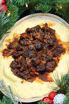 Braised Beef Short Ribs Recipe, Korean Braised Short Ribs, Beef Ribs, Easy Asian Recipes, Korean Recipes, Korean Food, Asian Side Dishes, Main Dishes, Smashed Potatoes Recipe