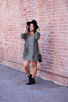 Fall Transitioning: Olive + Stripes