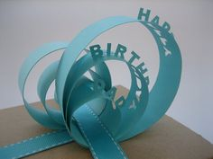 free cut file happy birthday dad present topper gift wrap 3D DIY paper wrap decoration