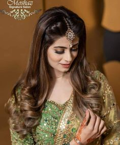 Indian Party Hairstyles, Mehndi Hairstyles, Pakistani Bridal Hairstyles, Pony Hairstyles, Bride Hairstyles, Lehenga Hairstyles, Hair Tutorials For Medium Hair, Cute Hairstyles For Medium Hair, Wedding Hairstyles For Long Hair