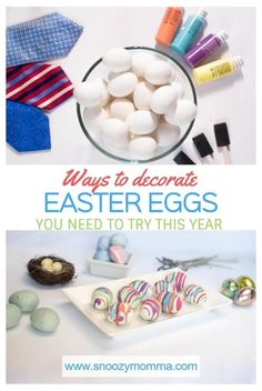 Are you looking for new and unique ways to decorate Easter eggs? I was sick of dying eggs the same way every year. So this year I decided to find new ways to decorate eggs. Easter Projects, Easter Crafts, Projects For Kids, Crafts For Kids, Easter Ideas, Easter Holidays, Holidays With Kids, Easter Bunny Cake, Easter Eggs