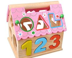 Sanlise kinder Holz Steckwürfel puzzle mit zahlen