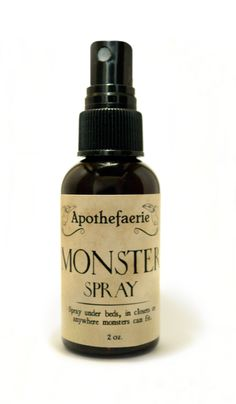Magic Spray to get rid of scary Monsters. You can also make your own using a 1 or 2 oz. Fill with rose water - for the heart. Add a few drops of essential oils, lavender - for relaxation and sage - for purifying. Monster Spray, Are Essential Oils Safe, Chamomile Oil, Good Massage, Thing 1, Toddler Fun, Smell Good, Jojoba Oil, Faeries