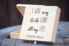 """This lovely box measures 8"""" x 8"""" x 1.5"""". This box is laser engraved and sealed to last a lifetime. Our prayer boxes can also be customized to include a verse of your choice, along with different fonts"""