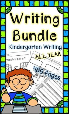 This kindergarten writing bundle includes seasonal writing activities to use for writers workshop, your writing center, small group instruction, kindergarten literacy centers, sub plans, morning work, homework, or independent writing activities. It has seasonal writing activities for the whole year! #kindergarten #writing #backtoschool #kindergartenwriting #writingbundle