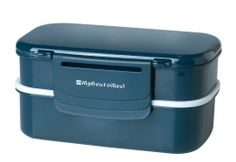 Amazon.com: Mulberry by Genmert Double Stack Bento Box with Utensils, Blue: Kitchen & Dining
