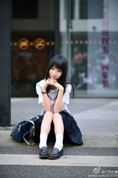 Photo School Girl Japan, School Girl Dress, School Uniform Girls, Girls Uniforms, Japan Girl, Cute Asian Girls, Cute Little Girls, School Fashion, Girl Fashion