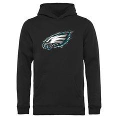 Youth Philadelphia Eagles NFL Pro Line by Fanatics Branded Black Splatter Logo Pullover Hoodie