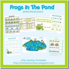 Frogs in the Pom Preschool Printable pack