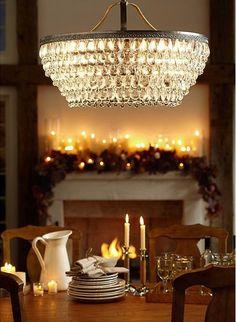 Beautiful glass drop chandelier  http://rstyle.me/n/d5k86nyg6