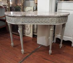 Louis XVI  Console | From a unique collection of antique and modern console tables at https://www.1stdibs.com/furniture/tables/console-tables/
