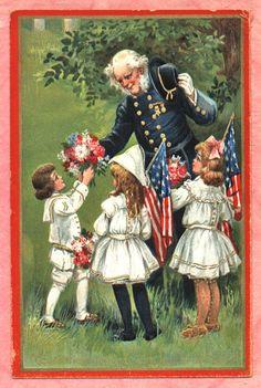 FRANCES BRUNDAGE DECORATION DAY Postcard