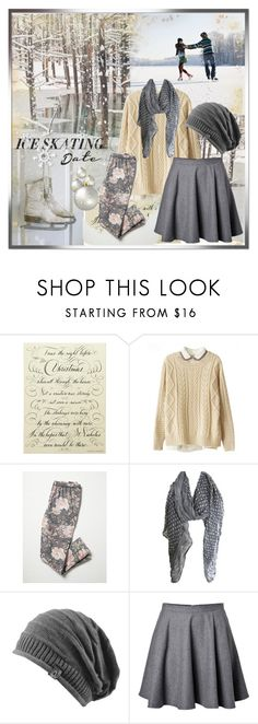 """""""Ice Skating Date"""" by ammiescott ❤ liked on Polyvore featuring Disney, Bernard Maisner, Chicnova Fashion, Free People and RED Valentino"""