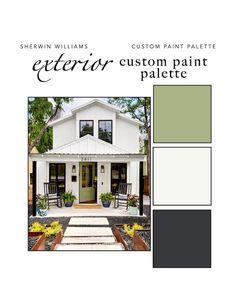 Outdoor Paint Colors, Modern Paint Colors, Paint Colors For Home, Bungalow Exterior, Craftsman Exterior, Modern Farmhouse Exterior, Townhouse Exterior, Stucco House Colors, Exterior Paint Colors For House