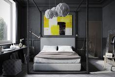 foorni.pl | Industrialne, łóżko z baldahimem
