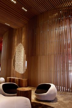 """Tianxi Oriental Club by Deve Build Design, Huizhou  Cool idea for a """"Smoking or Spa Room buildout in warehouse Homespace"""